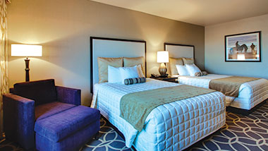 An extended room with two queen size beds at Zia Park Casino, Hotel and Racetrack..