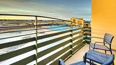 The blacon of a balcony suite at Zia Park Casino, Hotel and Racetrack.